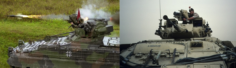 Marder 1A3 and FV510 Warrior with MILAN ATGM