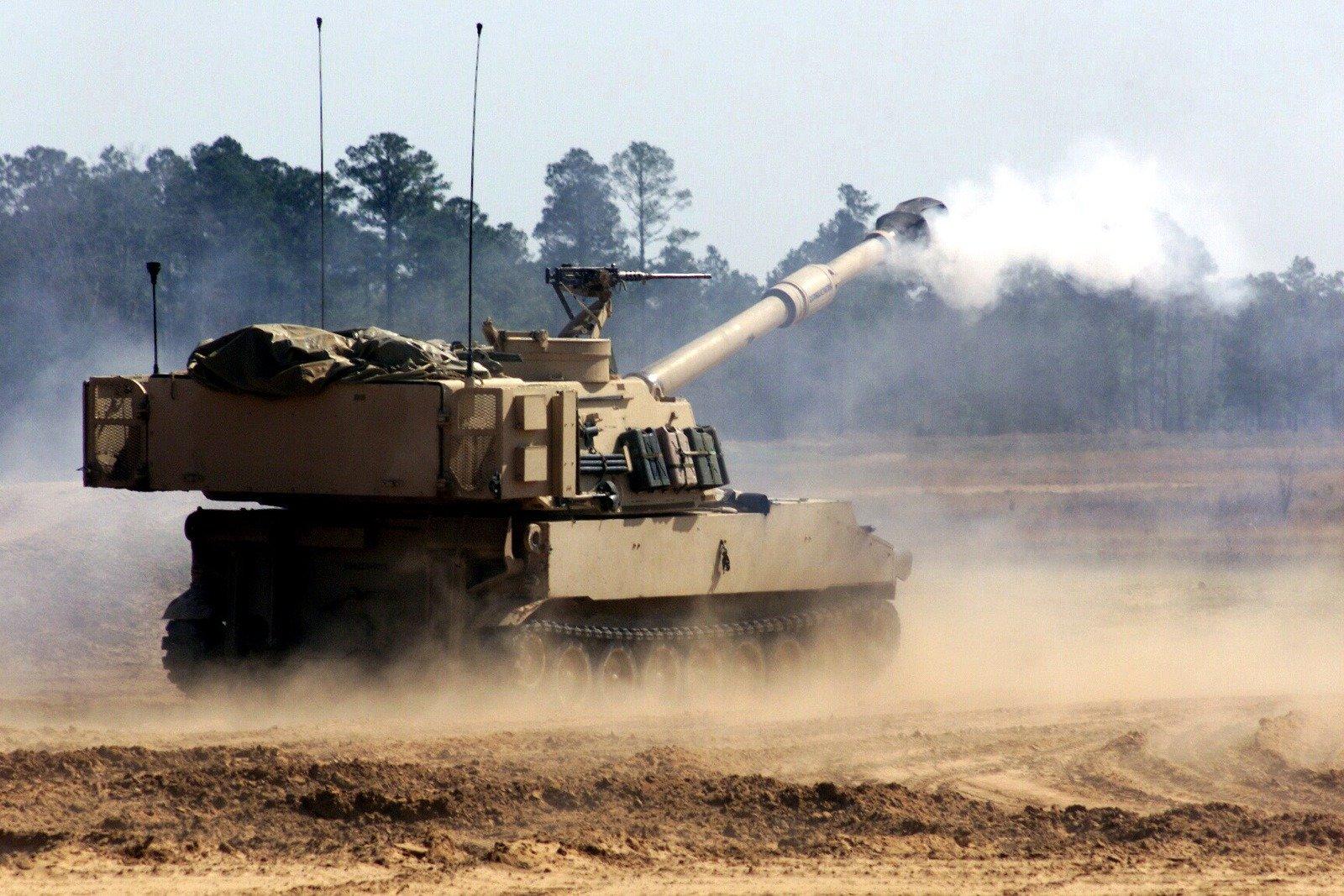 M109A7 Paladin 155mm kundağı motorlu topçu sistemi/obüs
